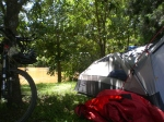 Bike, Tent, River...what else do you need?
